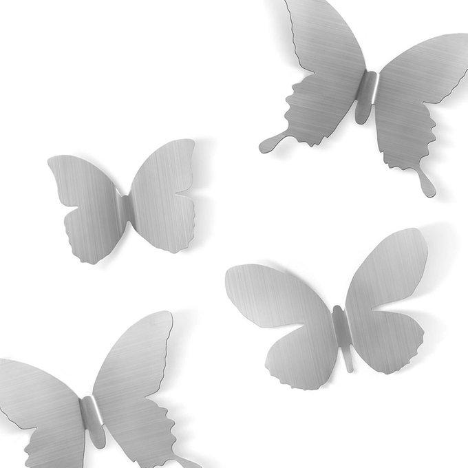 Декор для стен Umbra mariposa 9 никель