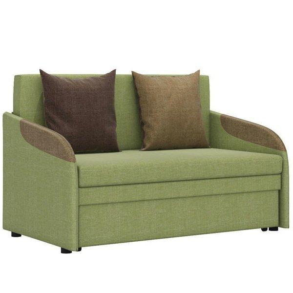 Диван-кровать Громит М в обивке из велюра зеленого цвета