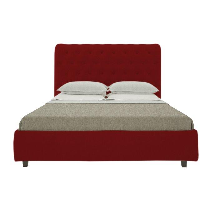 Кровать Sweet Dreams Велюр Красный 180х200