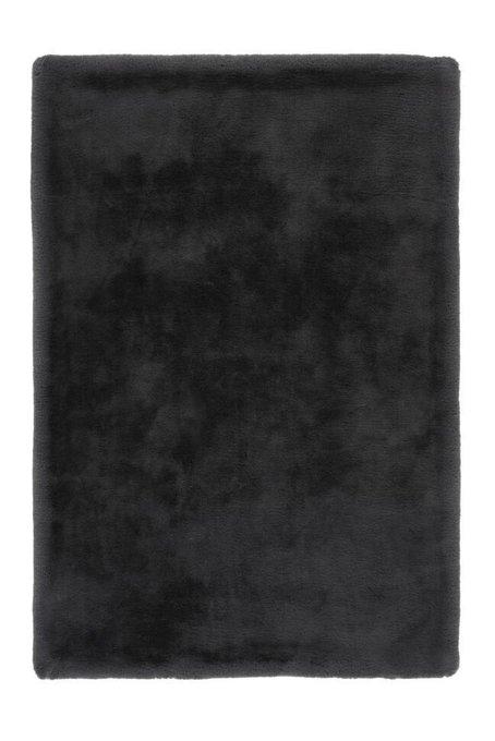 Однотонный ковер Heaven графитового цвета 80х150