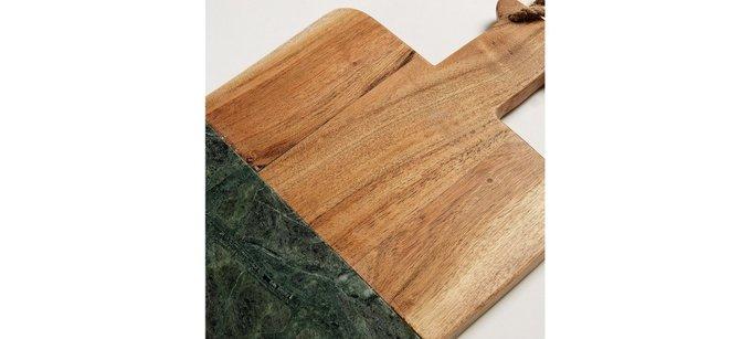 Разделочная доска Julia Grup ARIN из дерева и мрамора