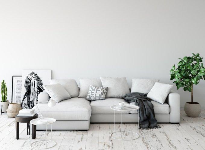 Угловой диван Lounge светло-серого цвета