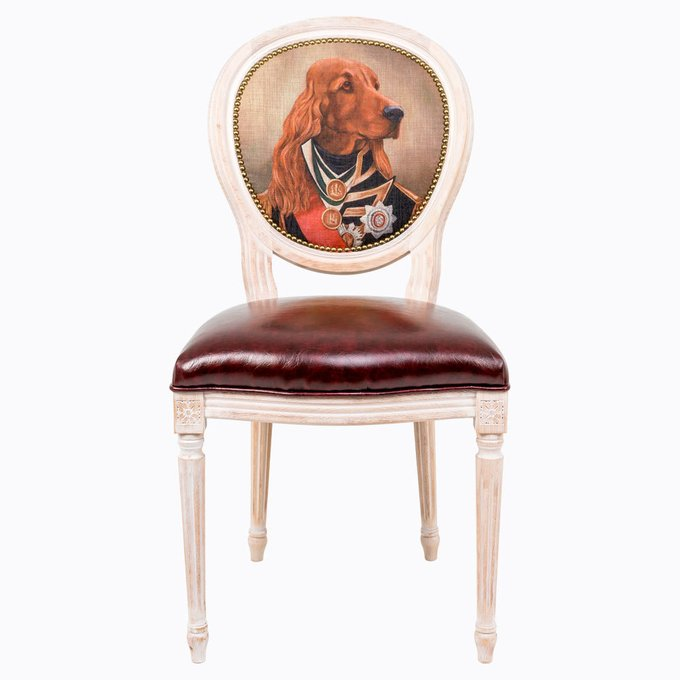 Стул Музейный экспонат версия 7 Лорд Горацио Нельсон с сидением из экокожи