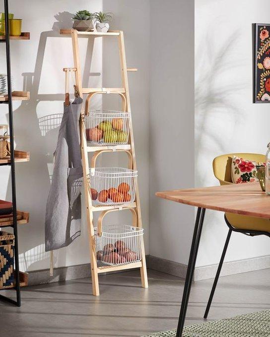 Полка Lesli Shelf с белыми корзинами