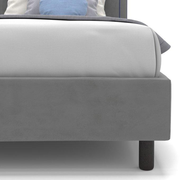 Односпальная кровать Kylie kids на ножках серого цвета 100х200