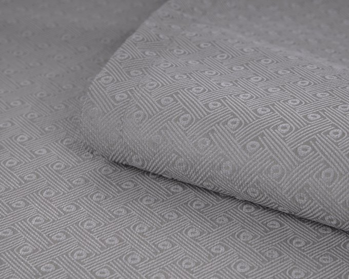 Покрывало Uno Vertikale Pebble 140x210 серого цвета