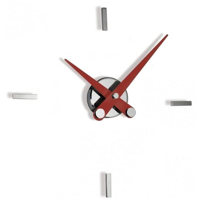 Часы Puntos Suspensivos с красными стрелками