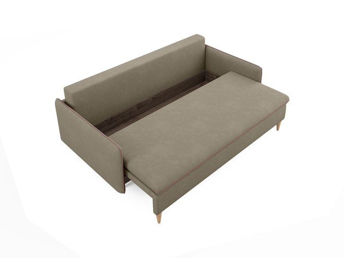 Диван-кровать Ron серо-бежевого цвета