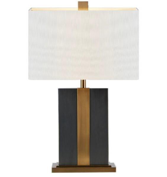 Настольная лампа Kingston Black с белым абажуром