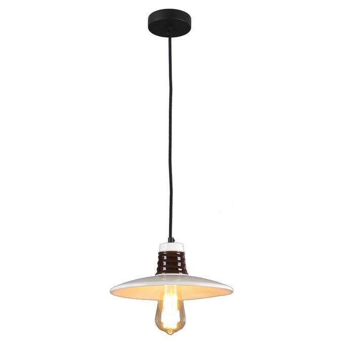 Подвесной светильник Lussole Loft Provence с керамическим плафоном