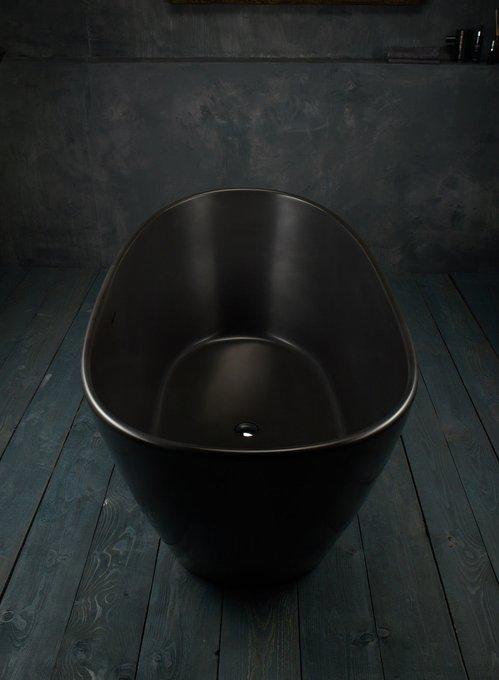 Каменная Ванна PureScape черно-графитового тона