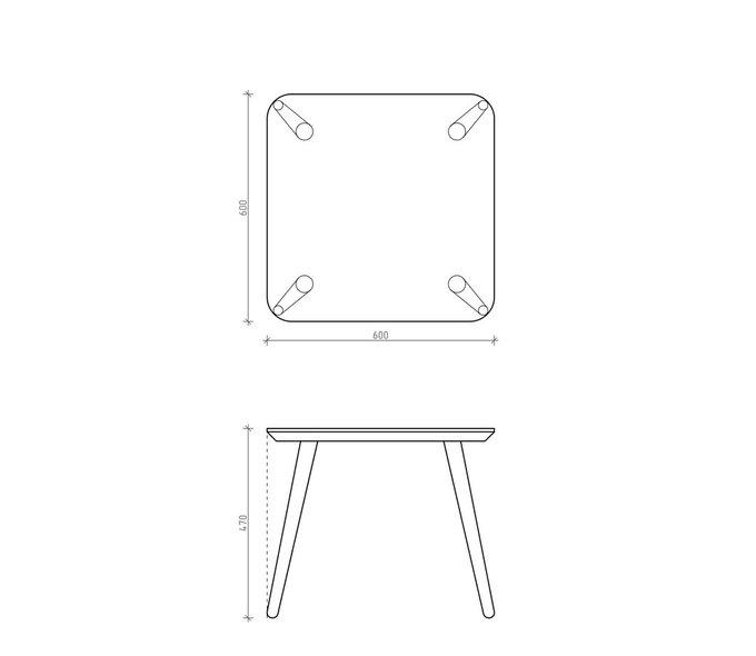 Журнальный стол Scale Quadro светло-серая эмаль