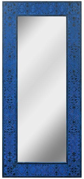 Зеркало в раме Papua Dark Blue 60х140
