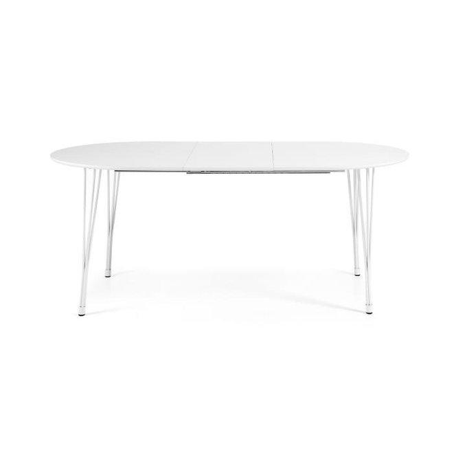 Раздвижной обеденный стол Julia Grup Max из металла и массива дерева