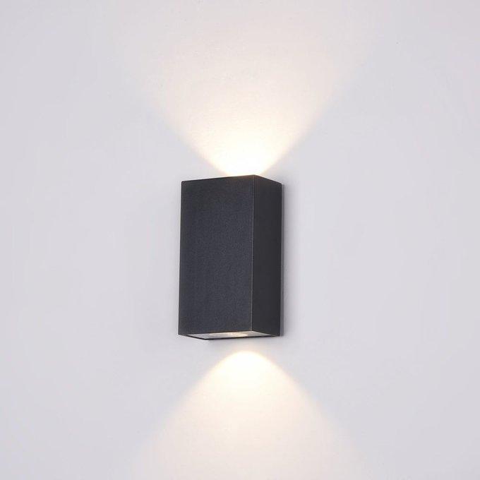 Уличный настенный светильник Times Square черного цвета