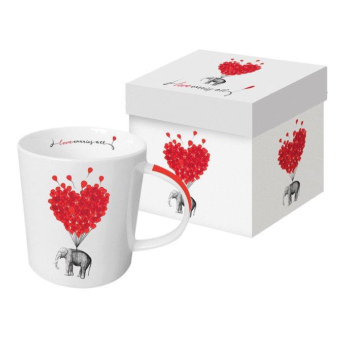 Кружка в подарочной упаковке Paperproducts Design love carries all 350 мл