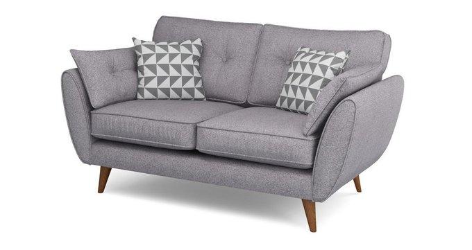 Прямой двухместный диван Элдон серый