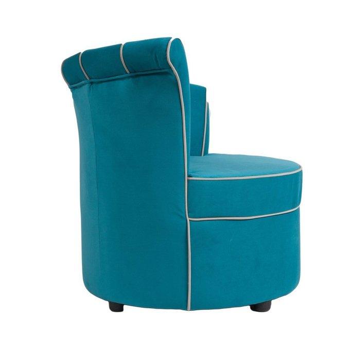 Кресло Shell из велюра цвета морской волны
