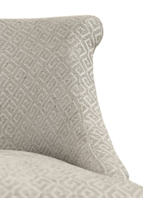 Кресло Pattern с обивкой из велюра бежевого цвета