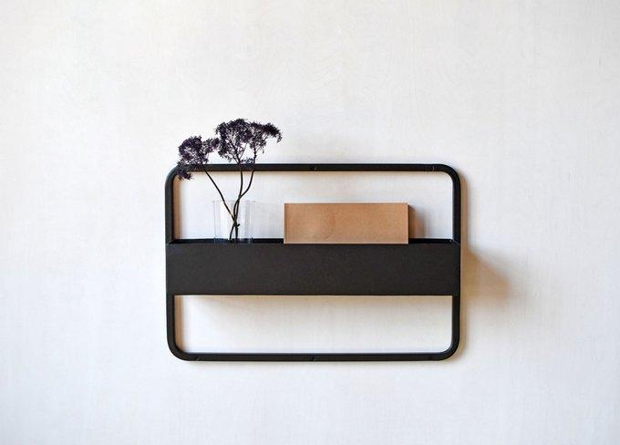 Полка Metall Shelf черного цвета