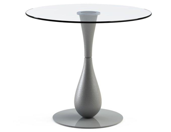 """Обеденный стол """"FLOS Silver"""" со  столешницей из закаленного стекла"""