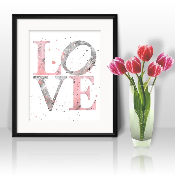 Постер Love А4