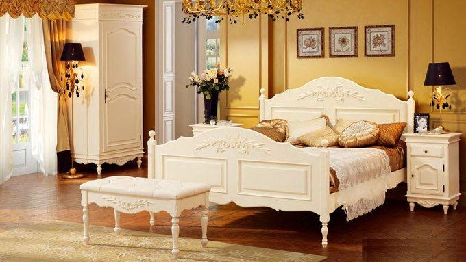 Кровать двухспальная Снежный Прованс 160х200