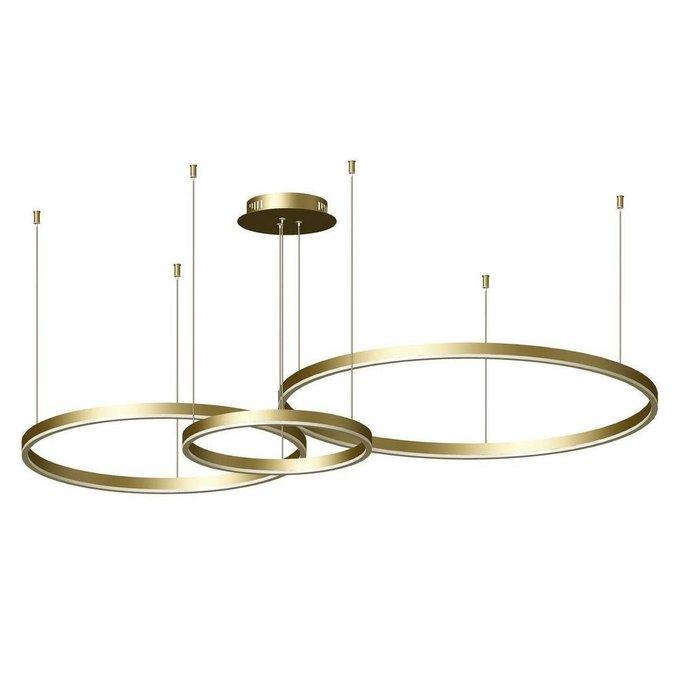 Подвесной светодиодный светильник Тор золотого цвета