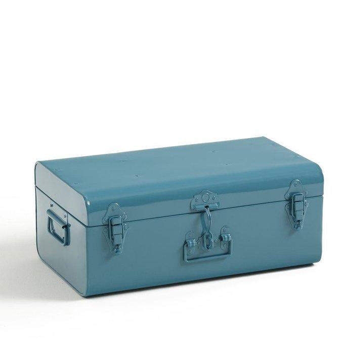 Сундук-чемодан Masa из металла синего цвета