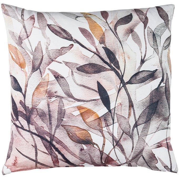 Декоративная подушка Avery с принтом из листьев