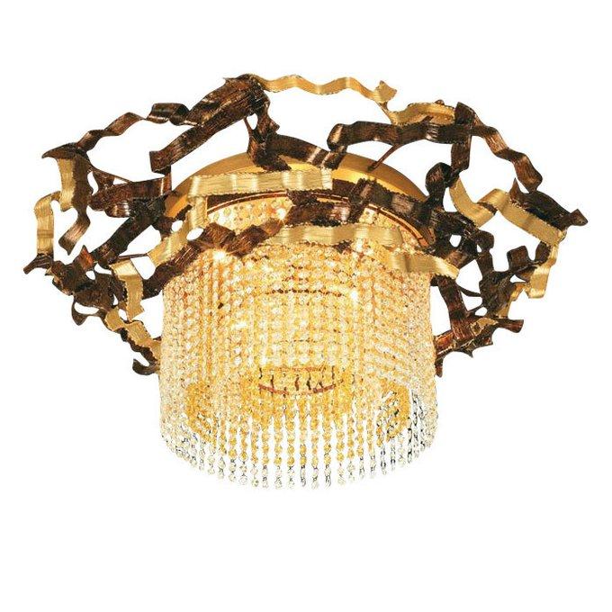 Потолочный светильник MM Lampadari Niagara с подвесками из хрусталя