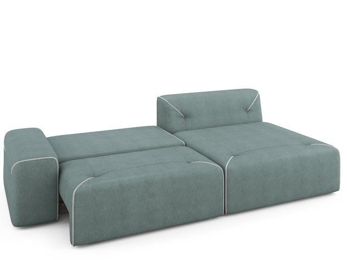 Угловой раскладной диван Portu правый мятного цвета