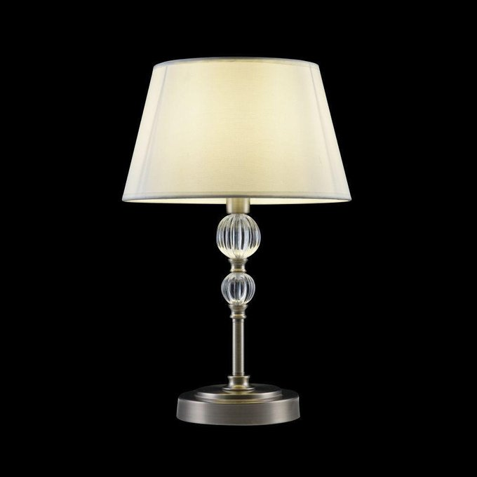 Настольная лампа Milena с белым абажуром