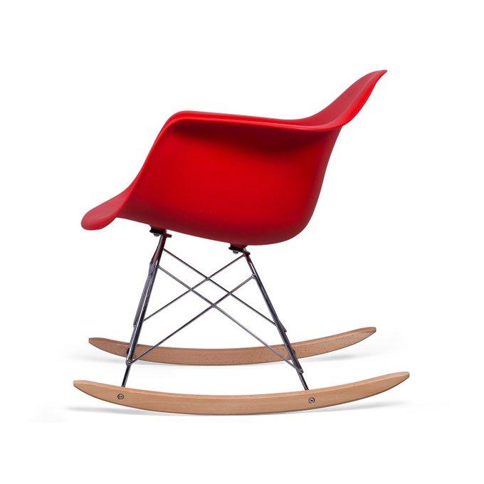 Стул-качалка Ravel Pompage красного цвета