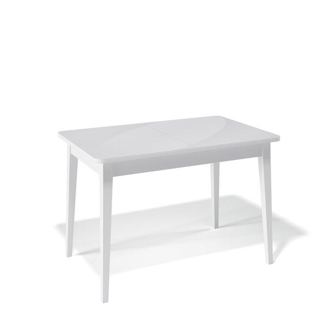 Стол обеденный Flavio раскладной цвета белый глянец