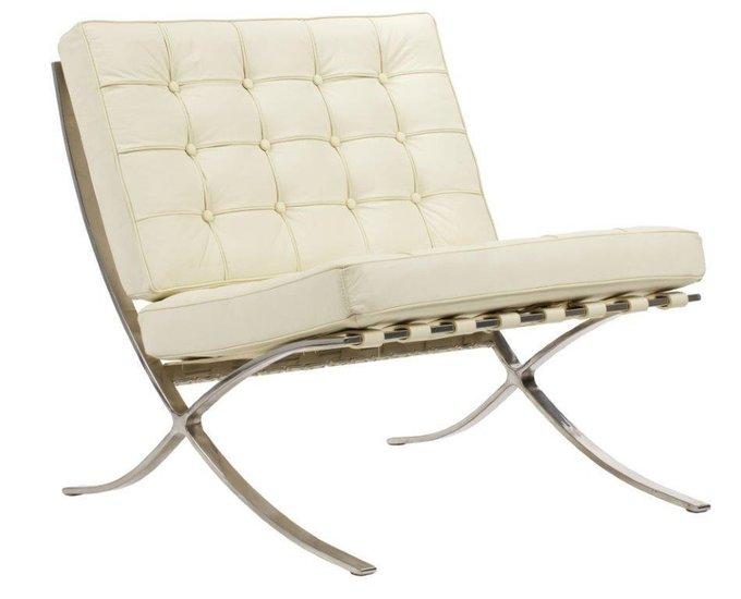 Кресло Barcelona Chair Cream Premium