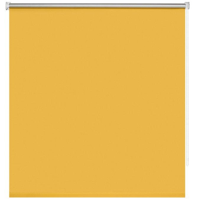Штора Миниролл Блэкаут Плайн золотого цвета 120x160