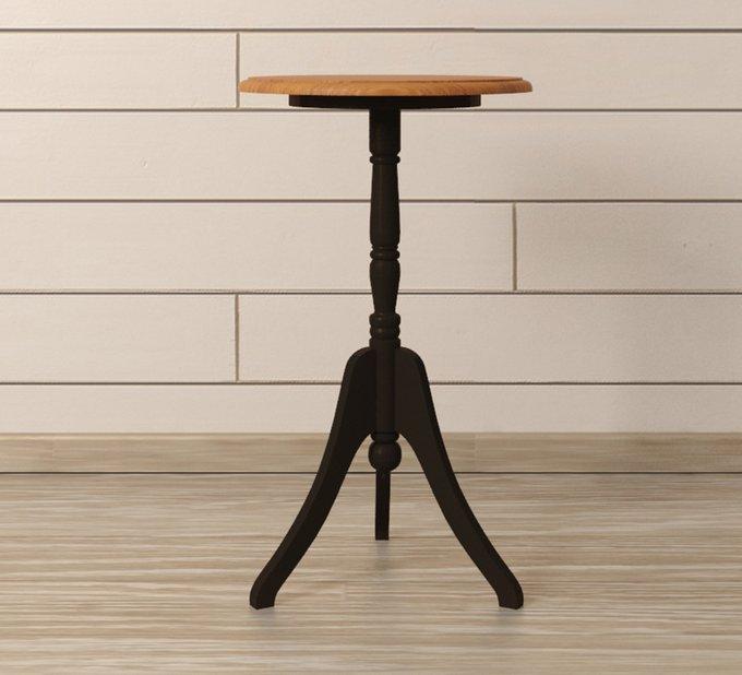 """Кофейный стол """"Leontina Black"""" из массива березы и ясеня"""