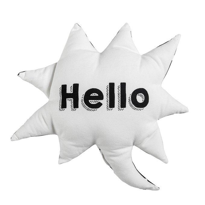 Декоративная подушка Hello из хлопка