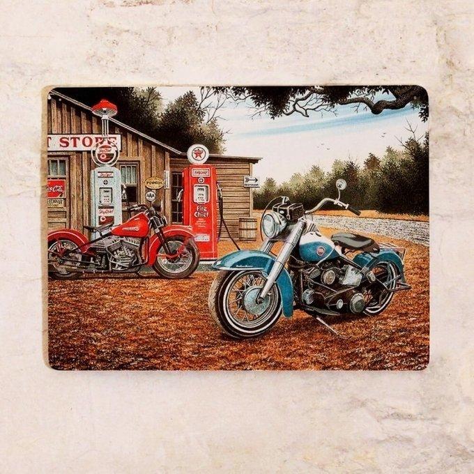 Табличка Винтажный мотоцикл из металла