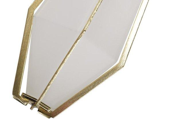Светильник подвесной из стекла с элементами цвета золота