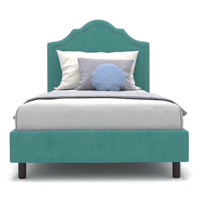 Односпальная кровать Kylie kids бирюзового цвета 100х200
