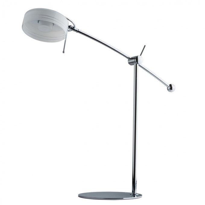 Настольная лампа Ракурс из металла и стекла
