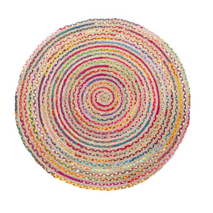 Ковер круглый из джута