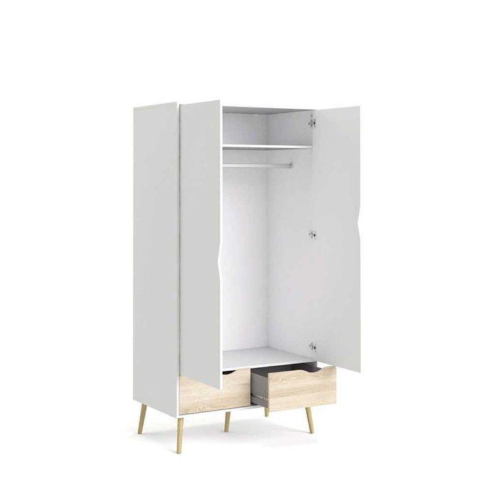 Шкаф распашной Oslo с двумя ящиками