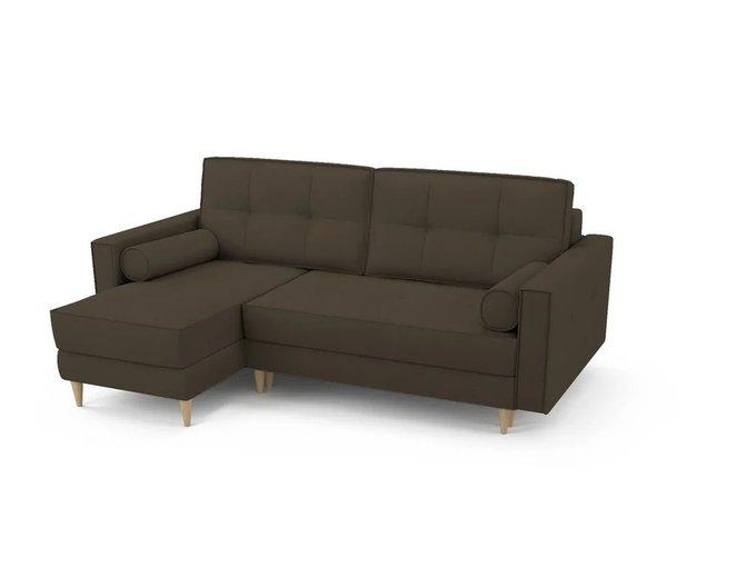 Диван-кровать Отто левый темно-коричневого цвета