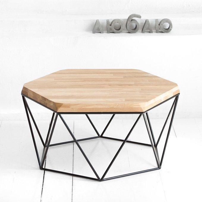 Журнальный стол Гексагон в натуральном цвете дуба
