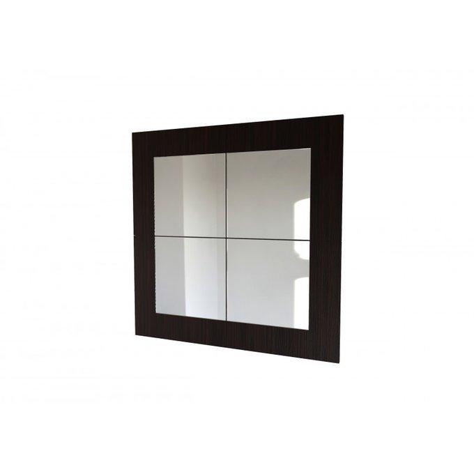 Зеркальное панно в черной раме