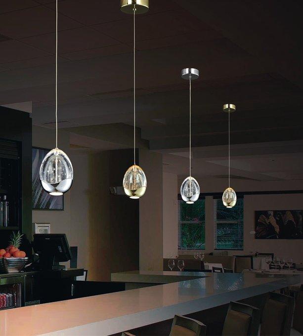 Подвесной светильник Illuminati Terrene из прозрачного выдувного стекла с металлическими элементами