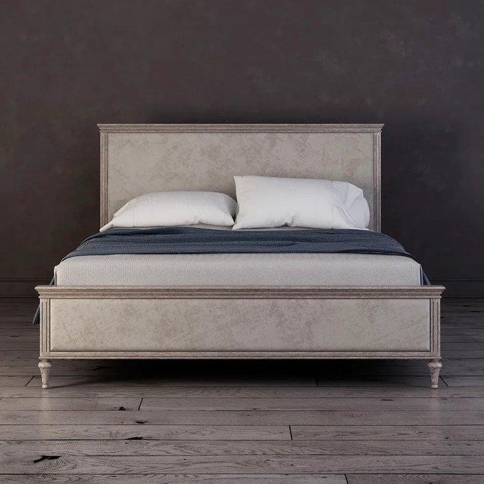 Кровать с мягким изголовьем Riverdi цвета светлый дуб  180х200